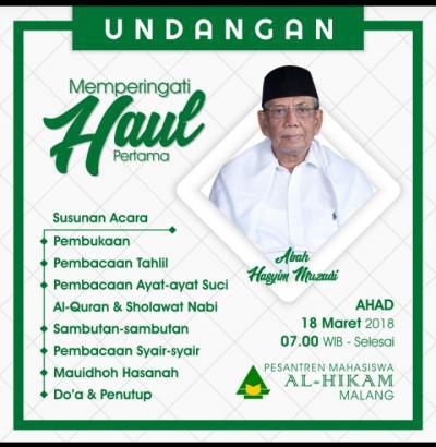 Haul K.H Hasyim Muzadi